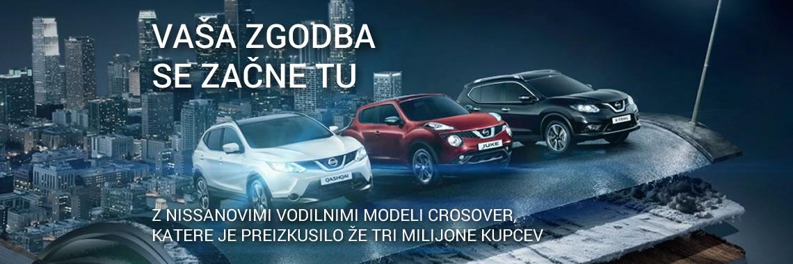 Spoznajte Nissanov izbor crossoverjev