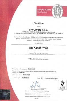 Certifikat kakovosti